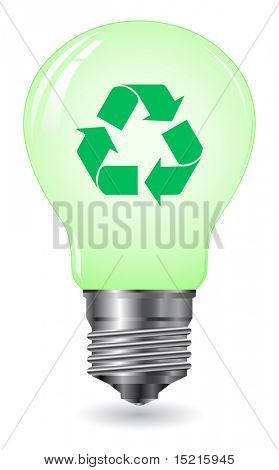 environment concept - lightbulb recycle