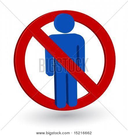 forbidden person sign