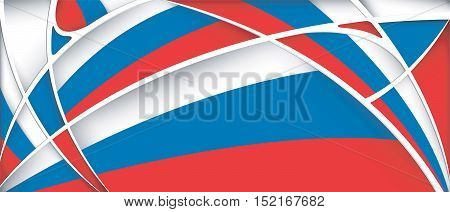 Abstract background with colors of Russia flag - Vector image