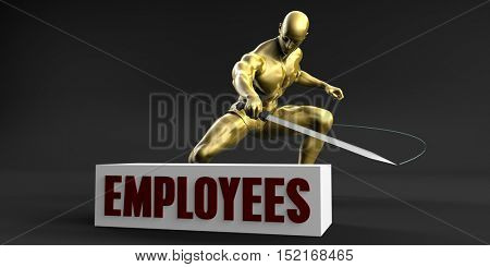 Reduce Employees and Minimize Business Concept 3d Illustration Render
