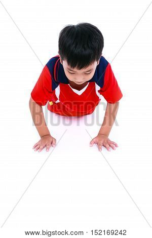 Child Athlete Exercising. Sports And Active Lifestyle.