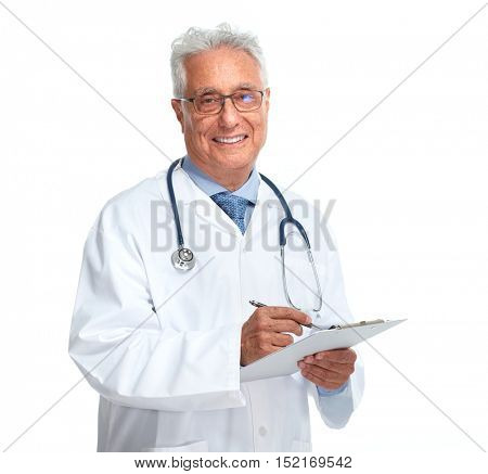 Elderly doctor.