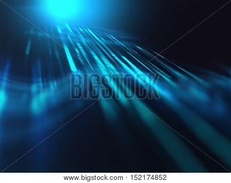 Blue Digital Glitch Pixel Technology Background
