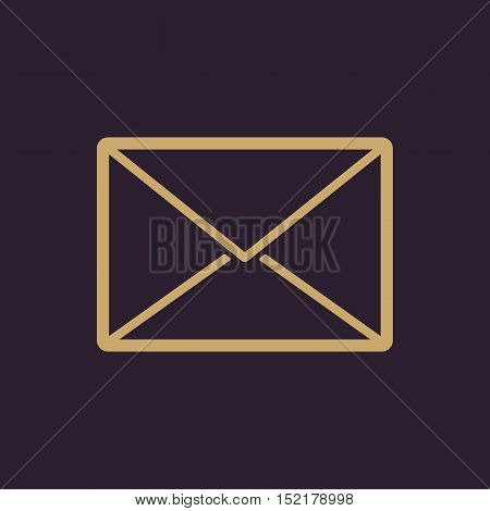 The email icon. Mail symbol. Flat Vector illustration