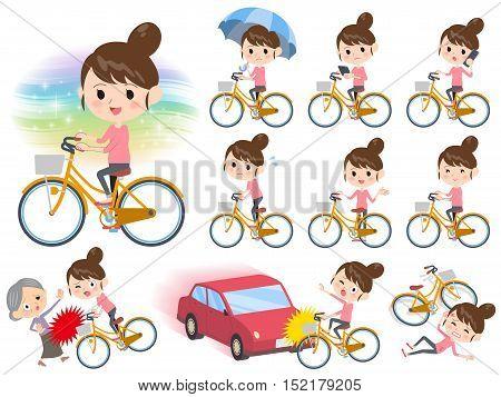 Bun Hair Mom Pants Style Ride On City Bicycle