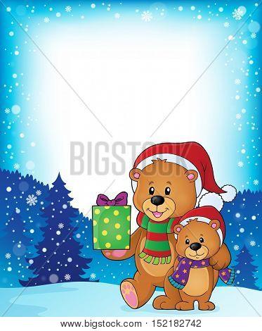Christmas bears theme image 3 - eps10 vector illustration.
