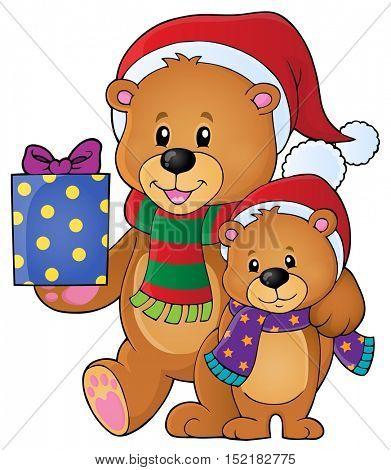 Christmas bears theme image 1 - eps10 vector illustration.