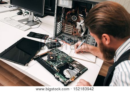 Electronic Repair Fix Renovation Inventory Business Concept