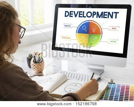 Development Business Plan Strategy Concept