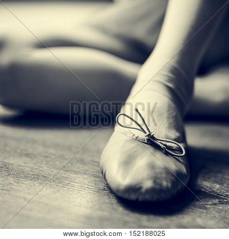 Ballerina Girl Tie Shoes Concept