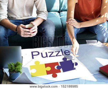 Puzzle Partnership Cooperation Connection Concept
