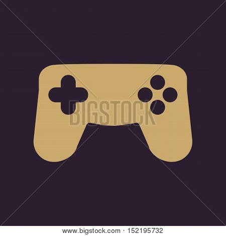 The gamepad icon. Game symbol. Flat Vector illustration