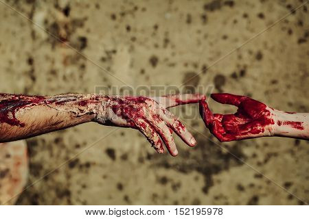 Two Bloody Zombie Hands