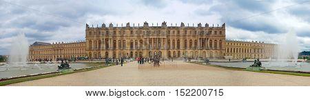 the Palace de Versailles France, lace of Versailles, national landmark.