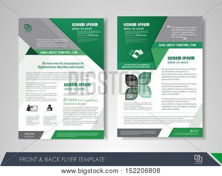 Front and back page brochure template. Flyer design leaflet cover for business presentations magazine covers posters booklets banners.