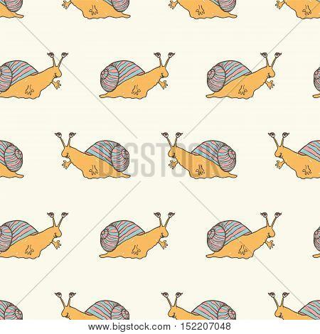 Seamless Pattern - Snails