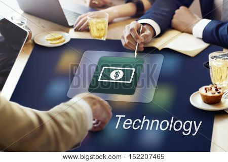 Electronic E-Banking Investment Economics Concept