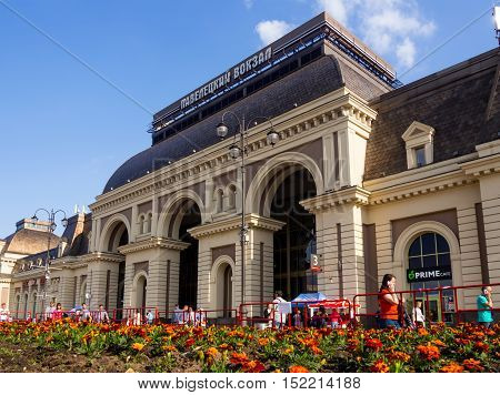Moscow, Russia - June 15, 2016: The building Paveletsky railway station