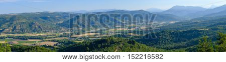 Aerial landscape of countryside at Provence, France