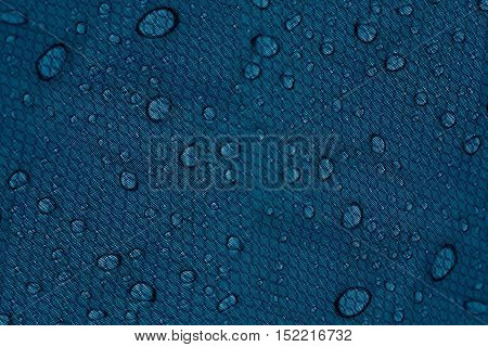 Water drops on a dark blue background. Abstract background.