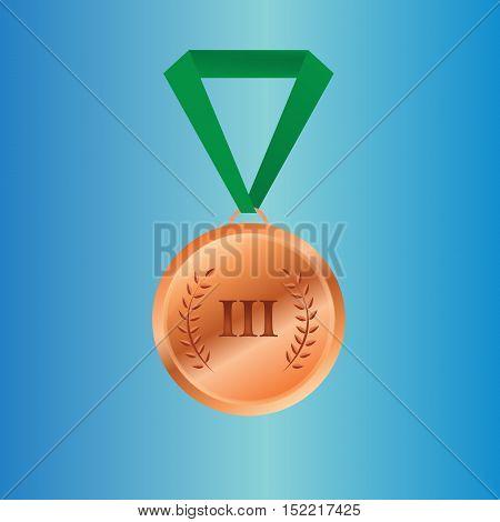 Bronze medal winners on the tape. vector illustration