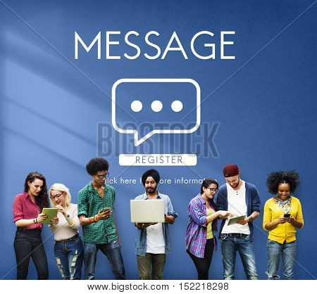 Message Communication Online Conversation Concept