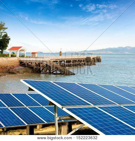 China Gulangyu solar panels and wind turbines