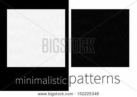Minimalistic monochrome geometric seamless pattern. Wait abstract vector background zigzag.