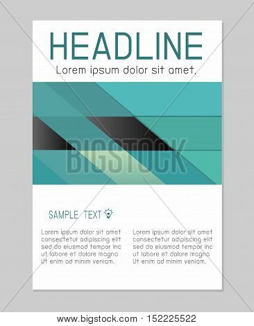 Flyer design vector template in A4 size, Brochure booklet cover annual report layout, vector annual report leaflet brochure template design, flyer modern multipurpose style, book cover layout design.