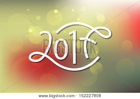 2017 Typography For New 2017 Year Greeting Card