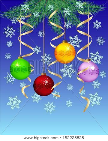 Festive winter background Christmas New Year's Eve. Vector illustration