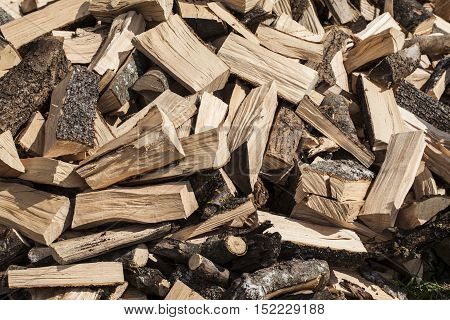 Pieces Of Firewood On A Large Pile