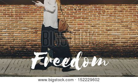 Freedom Free Life Relax Happy Concept