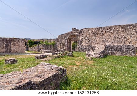 Ruins of Ioannina city castle, Epirus, Greece