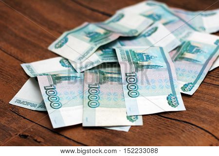 One hundred rubles banknote as background money