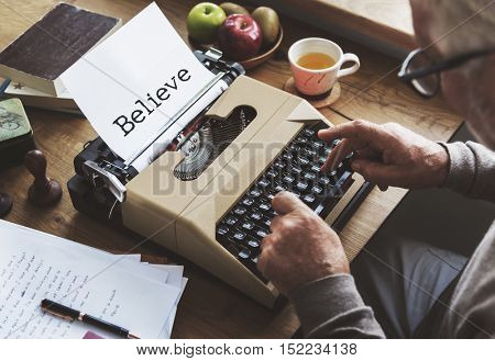Believe Inspiration Thinking Faith Truth Concept