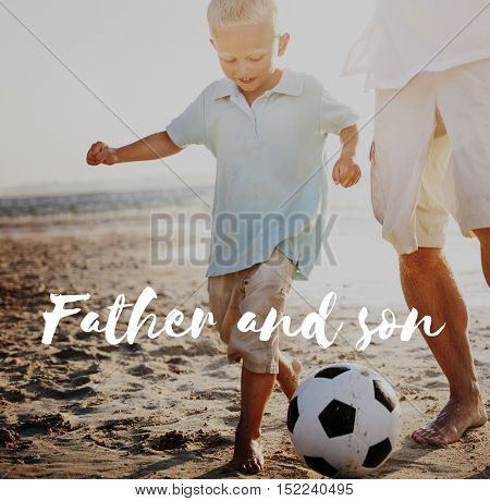 Father Family Football Concept