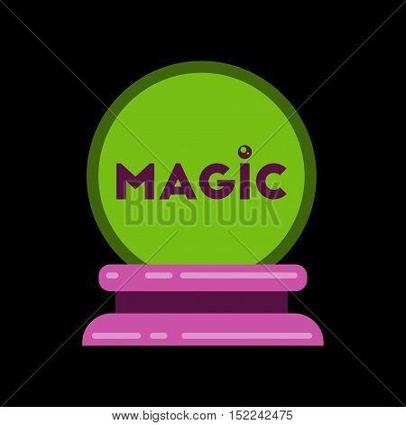 flat icon on stylish background of magic ball