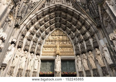 Cologne, Germany, the medieval portal, main entrance