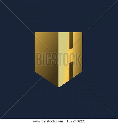 Letter H Shield Logo Icon Design Template Elements