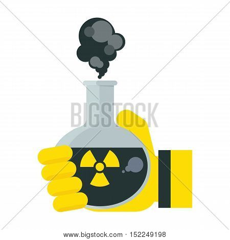 Hand Holds Poison In Test Tube