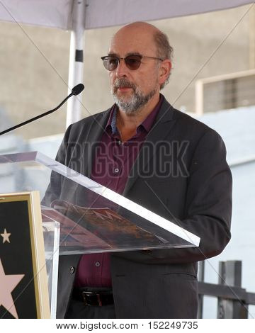 LOS ANGELES - OCT 17:  Richard Schiff at the Allison Janney Hollywood Walk of Fame Star Ceremony at the Gower and Hollywood on October 17, 2016 in Los Angeles, CA