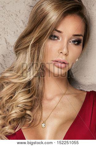 Beauty Portrait Of Sexy Girl.