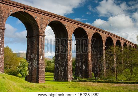Lowgill Viaduct in Yorkshire Dales National Park England