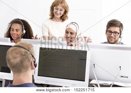 Group Of People During E-learning Classes