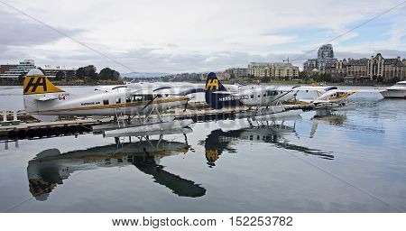 Victoria, Canada - August 28, 2016: Victoria Harbour Airport On