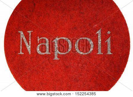 Napoli Written Of An Italian City With Glitter Font