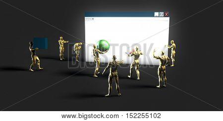 Web Information Technology Art of the Future 3d Illustration Render