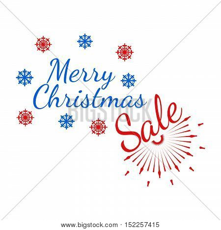 Merry Christmas Banner And Giftcard. Xmas Poster And New Year Sign On White Background. Vector Illus