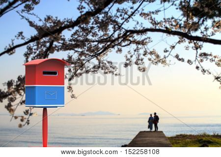 3D Rendering Mailbox With Nice Background Image